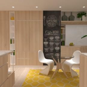 Reforma de vivienda con cocina de concepto abierto.