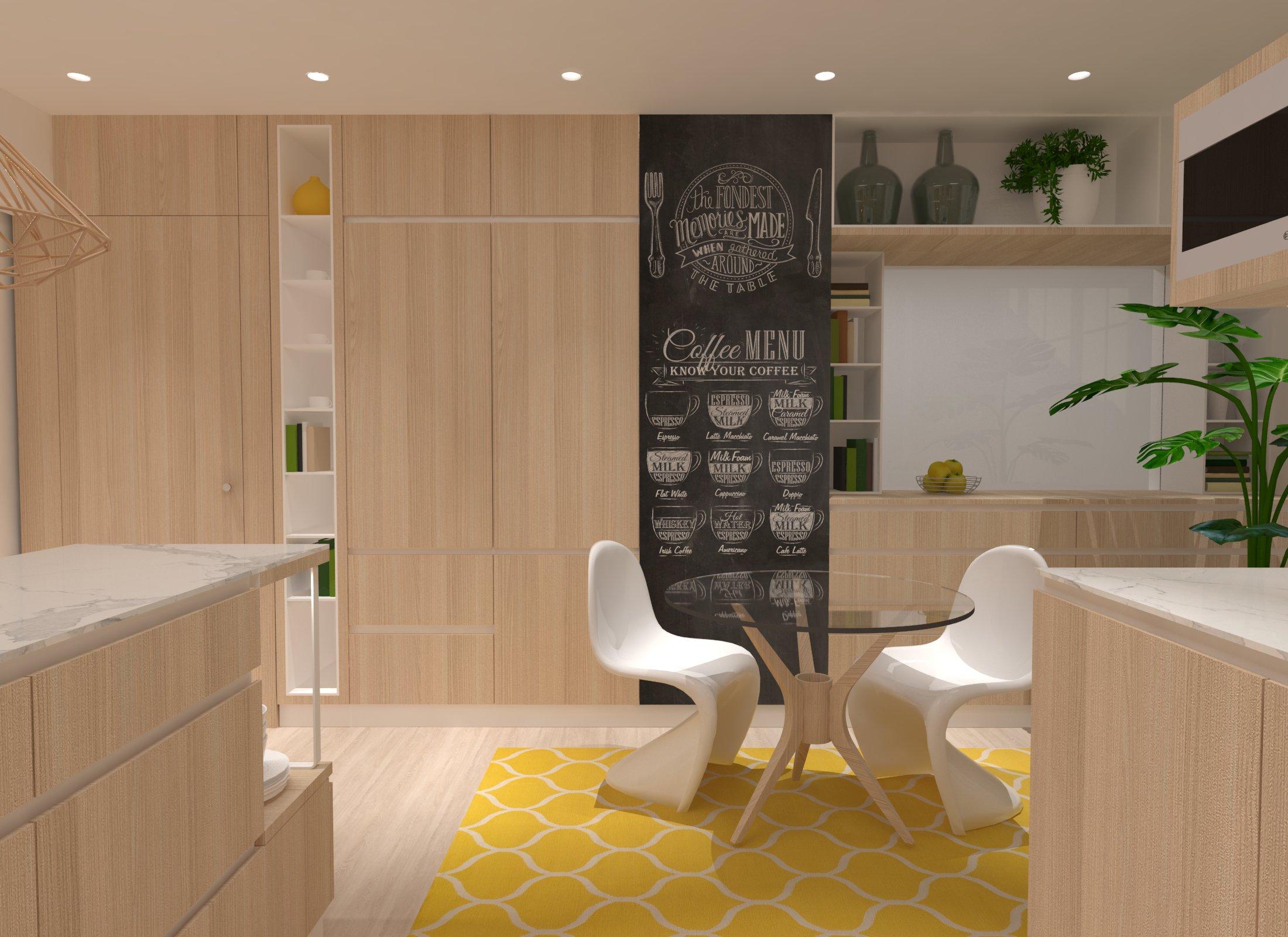 Reforma de vivienda con cocina de concepto abierto / Bigastro